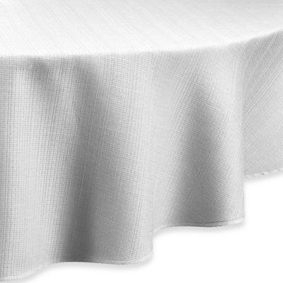 buy white 60 round tablecloth from bed bath & beyond