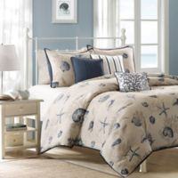 Madison Park Bayside Full/Queen Duvet Cover Set in Blue