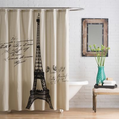 Anthology™ Paris 54 Inch X 78 Inch Stall Shower Cotton Shower Curtain