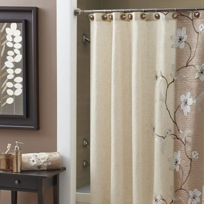CroscillR Magnolia 84 Inch X 72 Extra Long Shower Curtain