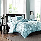 Madison Park Vienna 7-Piece Queen Comforter Set in Blue