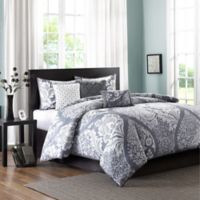 Madison Park Vienna Full/Queen Duvet Cover Set in Slate