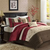 Madison Park Serene Full/Queen Duvet Cover Set in Red