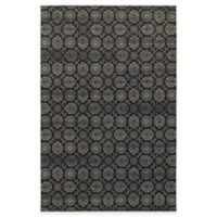 Oriental Weavers Richmond Floral Damask 3-Foot 10-Inch x 5-Foot 5-Inch Area Rug in Navy