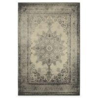 Oriental Weavers Richmond Distressed Medallion 7-Foot 10-Inch Round Area Rug in Ivory