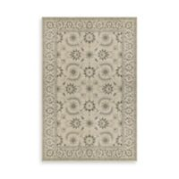 Oriental Weavers Richmond Floral Border 6-Foot 7-Inch x 9-Foot 6-Inch Area Rug in Ivory