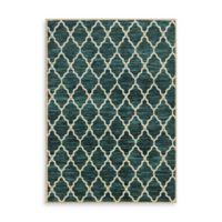 Oriental Weavers Harper Trellis 6-Foot 7-Inch x 9-Foot 6-Inch Area Rug in Teal