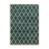 Oriental Weavers Harper Trellis 7-Foot 10-Inch x 10-Foot 10-Inch Area Rug in Teal