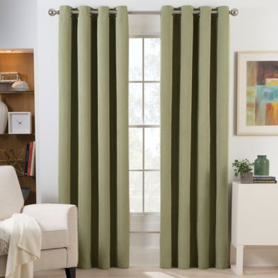 Herald Square 63 Inch Grommet Top Room Darkening Window Curtain Panel in  Green. Buy Room Darkening Curtains from Bed Bath   Beyond