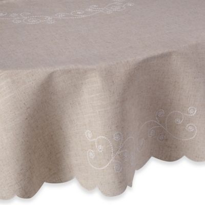 Lenox® French Perle 70 Inch Round Tablecloth In Linen