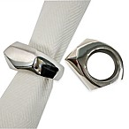 Kenneth Cole Reaction Home Monroe Napkin Ring in Silver
