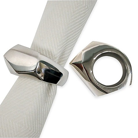 image of Kenneth Cole Reaction Home Monroe Napkin Ring in Silver