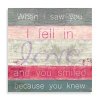"""Striped Inspirational """"When You Knew"""" 20-Inch x 20-Inch Canvas Wall Art"""