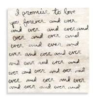 Dearest Love Letter 20-Inch x 20-Inch Canvas Wall Art