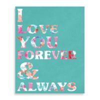 Forever and Always Teal and Pastels Large Wall Art