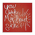 "Starburst ""You Make My Heart Smile"" 16-Inch x 16-Inch Canvas Wall Art"