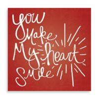 """Starburst """"You Make My Heart Smile"""" 20-Inch x 20-Inch Canvas Wall Art"""