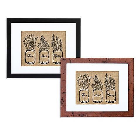 Kitchen herbs burlap wall art bed bath beyond - Bed bath beyond kitchen ...