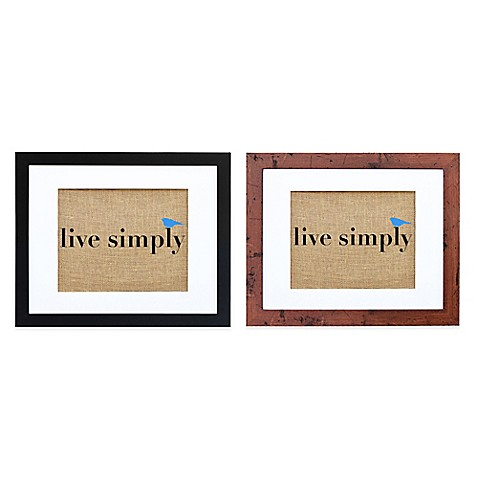 Live simply burlap wall art bed bath beyond for Live simply wall art