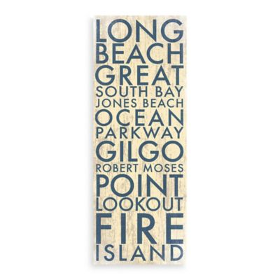long island i landmark typography canvas wall art collection