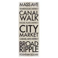 Indianapolis Landmark Typography Canvas Wall Art