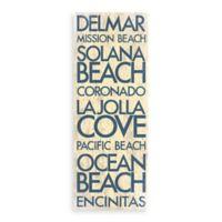 Coronado, California Landmark Typography Canvas Wall Art