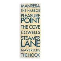 Northern California Landmark Typography Canvas Wall Art