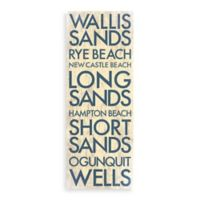 Southwest Maine Landmark Typography Canvas Wall Art