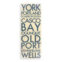 Maine Landmark Typography Canvas Wall Art
