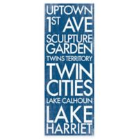 St. Paul Minnesota Landmark Typography Canvas Wall Art