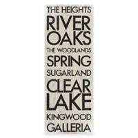 Houston, Texas Landmark Typography Canvas Wall Art