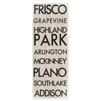 Dallas, Texas Landmark Typography Canvas Wall Art