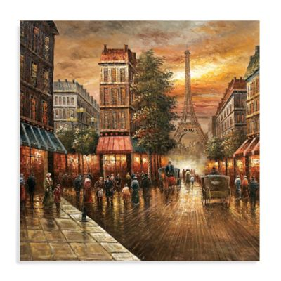 Charming Paris Nights Canvas Wall Art