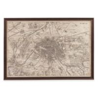 Bassett Mirror Company Map of Paris Wall Art