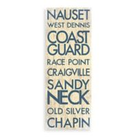 Cape Cod Landmark Typography Canvas Wall Art