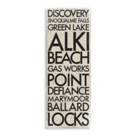 Washington Landmark Typography Canvas Wall Art