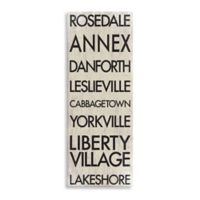 Toronto Landmark Typography Canvas Wall Art