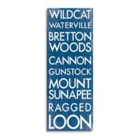 New Hampshire Landmark Typography Canvas Wall Art
