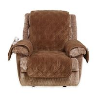 Sure Fit® Wide Wale Corduroy Recliner Cover in Brown