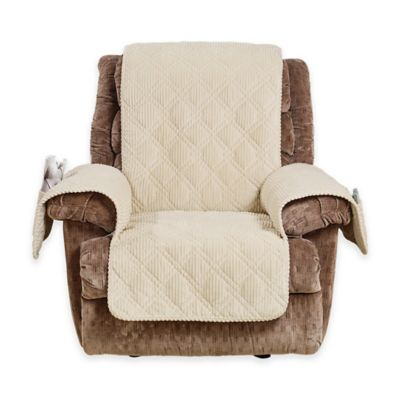 Sure Fit® Wide Wale Corduroy Recliner Cover in Cream  sc 1 st  Bed Bath \u0026 Beyond & Buy Surefit Recliner Cover from Bed Bath \u0026 Beyond islam-shia.org