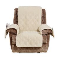 Sure Fit® Wide Wale Corduroy Recliner Cover in Cream