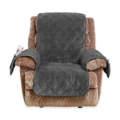 Sure Fit® Wide Wale Corduroy Recliner Cover in Graphite  sc 1 st  Bed Bath u0026 Beyond & Buy Surefit Recliner Cover from Bed Bath u0026 Beyond islam-shia.org