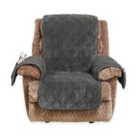 Sure Fit® Wide Wale Corduroy Recliner Cover in Graphite