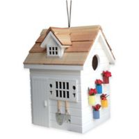 Home Bazaar Potting Shed Bird House in White