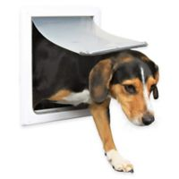 2-Way Size S-M Dog Door in White