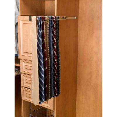 Rev A Shelf® 23 Hook Static Tie Rack In Satin Nickel