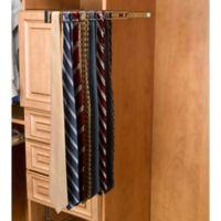 Rev-A-Shelf® 25-Hook Side-Mount Tie Rack in Satin Nickel