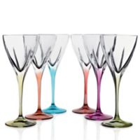 Lorren Home Trends Fusion Water Goblets in Multi (Set of 6)