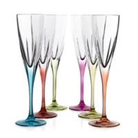 Lorren Home Trends Fusion Champagne Flutes in Multi (Set of 6)