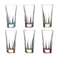 Lorren Home Trends Fusion Highball Glasses in Multi (Set of 6)
